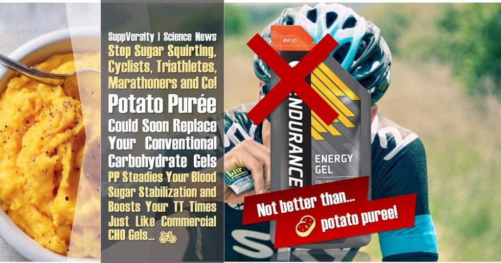 In Triathletes, Marathoners & Co! Potato Purée Can Replace Conventional Carbohydrate Gels W/Out Performance Loss!
