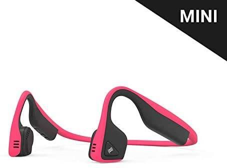 Aftershokz Titanium Mini Wireless Bone Conduction Bluetooth Headphones, Shorter Headband Size for Smaller Fit, Open-Ear Design, Pink, AS600MPK