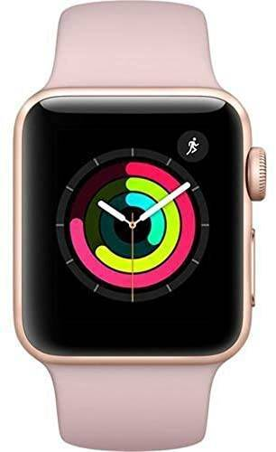 Apple Watch Series 3 (GPS, 42MM) - Gold Aluminum Case with Pink Sand Sport Band (Renewed)