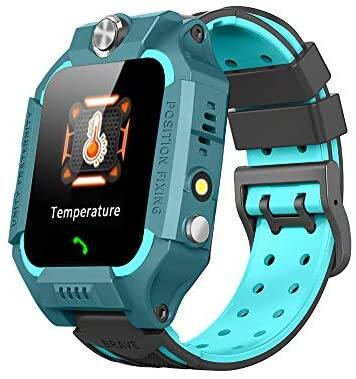 Kids Smart Watch LBS Positioning, SOS Two-Way Call IP67 Waterproof, Smart Games, Temperature Measurement, Electronic Fence, 1.44 inch HD Touch Color Screen, Compatible with Android and iOS.